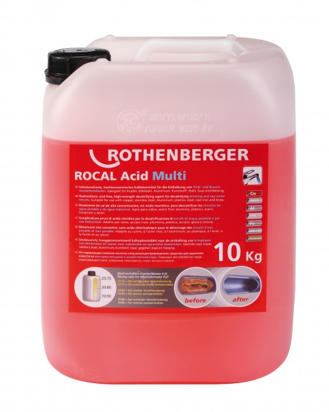 ROTHENBERGER Entkalkungschemie ROCAL Acid Multi, 10 kg