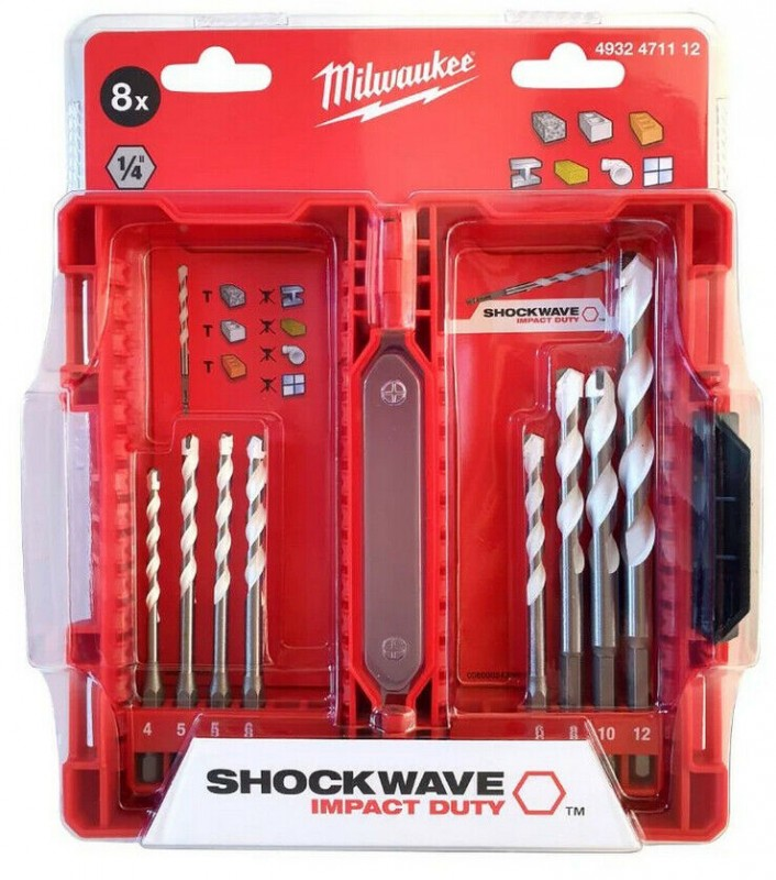 Milwaukee Multimaterial SHOCKWAVE Bohrerset 8-teilig